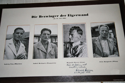 1938 victorious team - signed by Heinrich Harrer