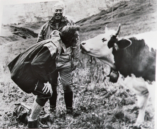 Clinet Eastwood meets a swiss cow !