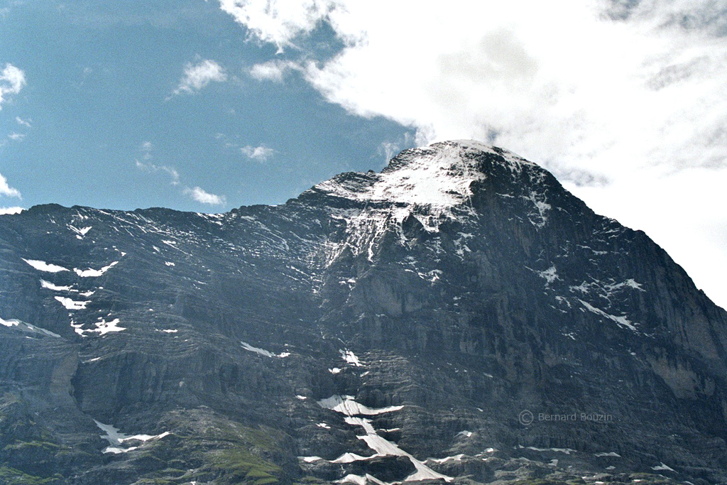 Eiger north face from Alpigen